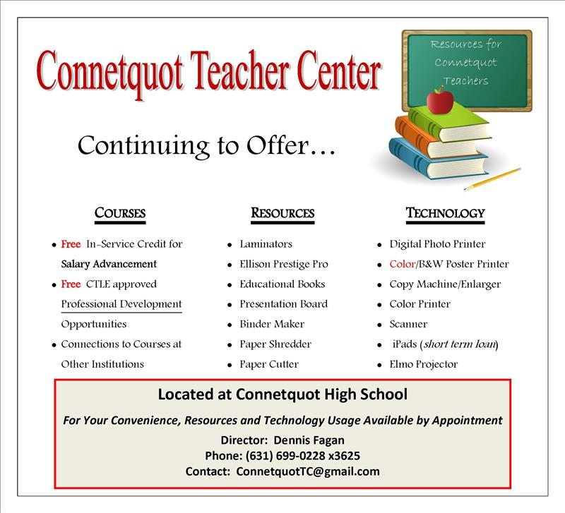 Teacher Center Poster